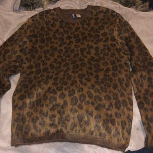 H&M Men's Leopard Sweater